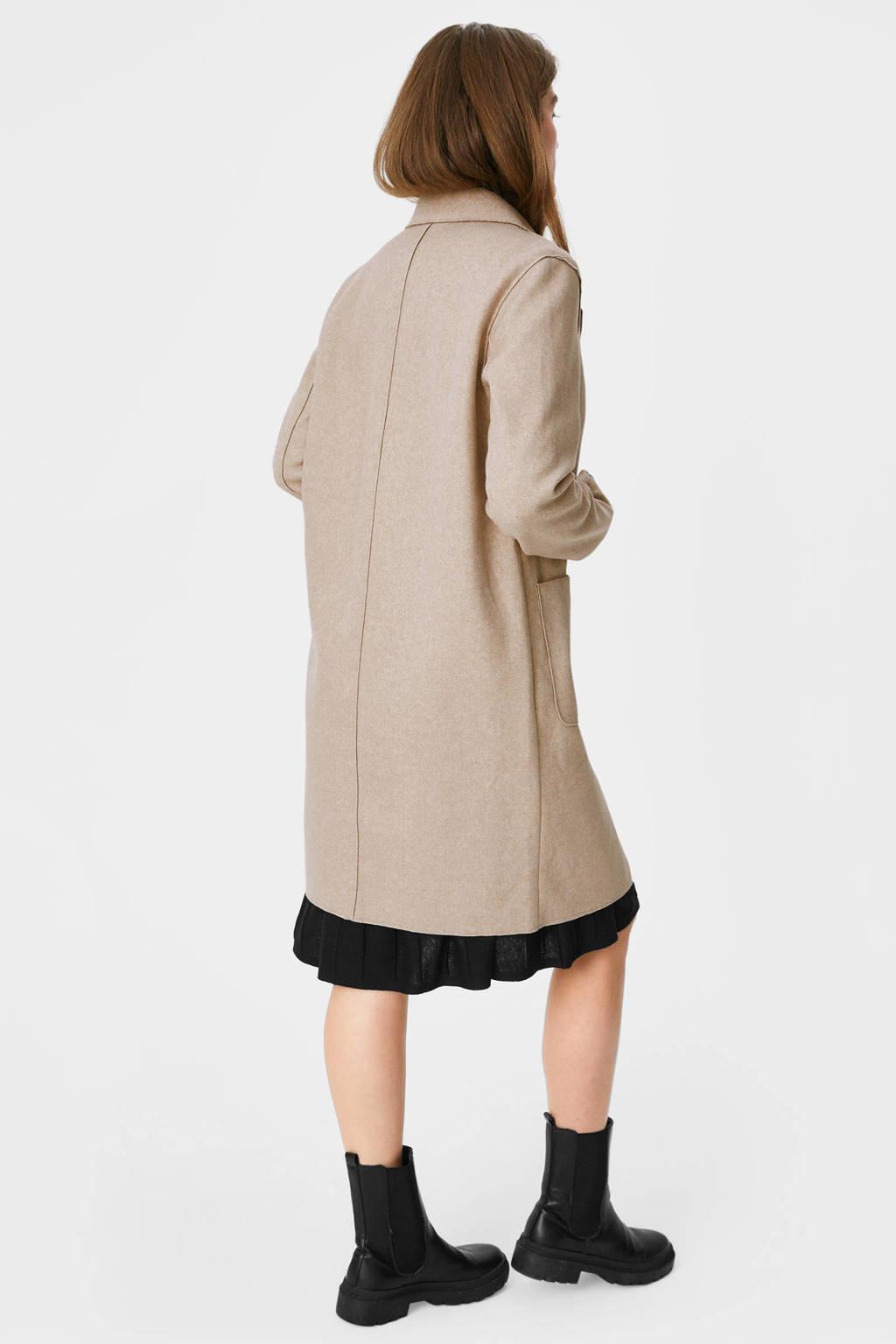 C&A The Outerwear gemêleerde  coat beige, Beige