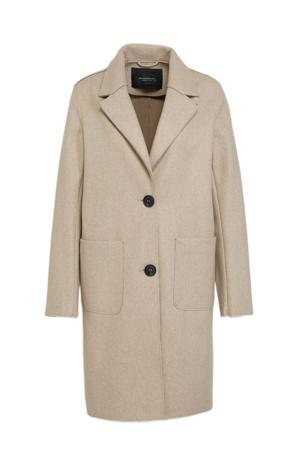gemêleerde  coat beige
