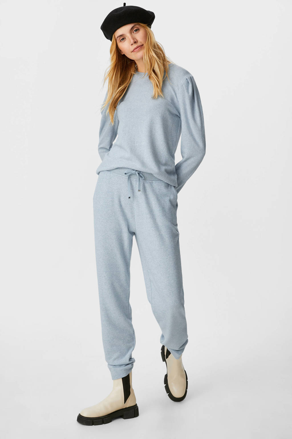 C&A skinny broek grijsblauw, Grijsblauw