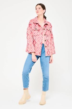 jas met all over print roze