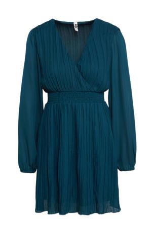 jurk JDYABIGALE met plooien blauw