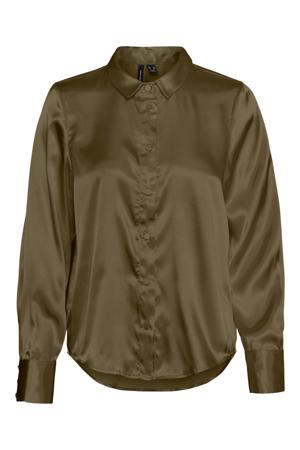 blouse VMANE van gerecycled polyester groen