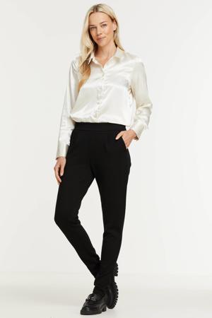 blouse VMANE van gerecycled polyester gebroken wit