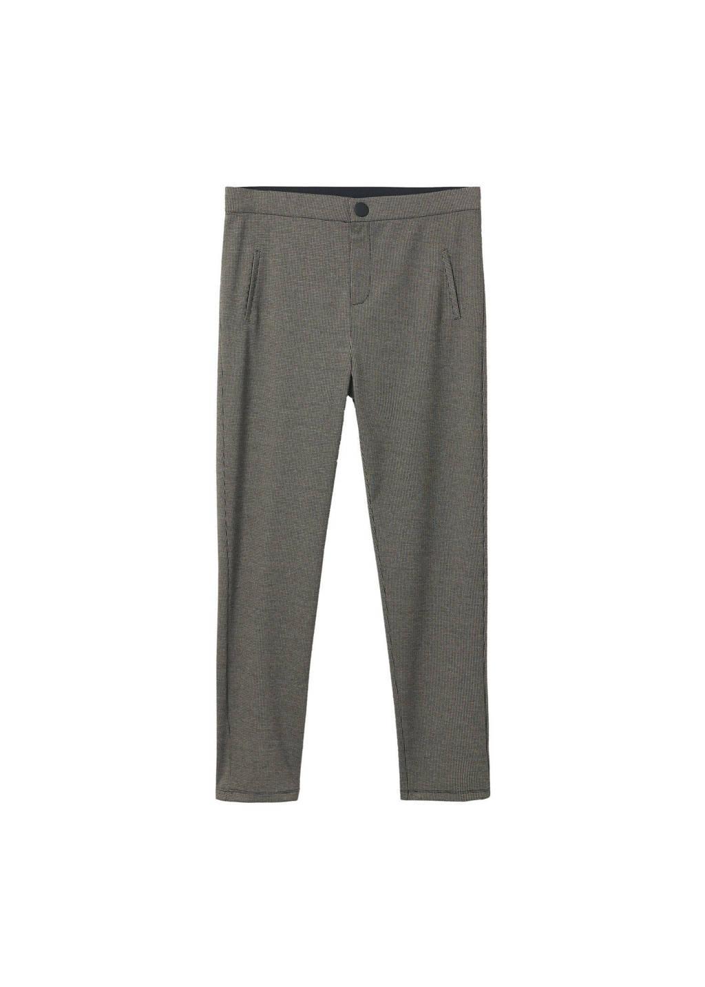 Mango Plus Size geruite legging zwart, Grijs/zwart