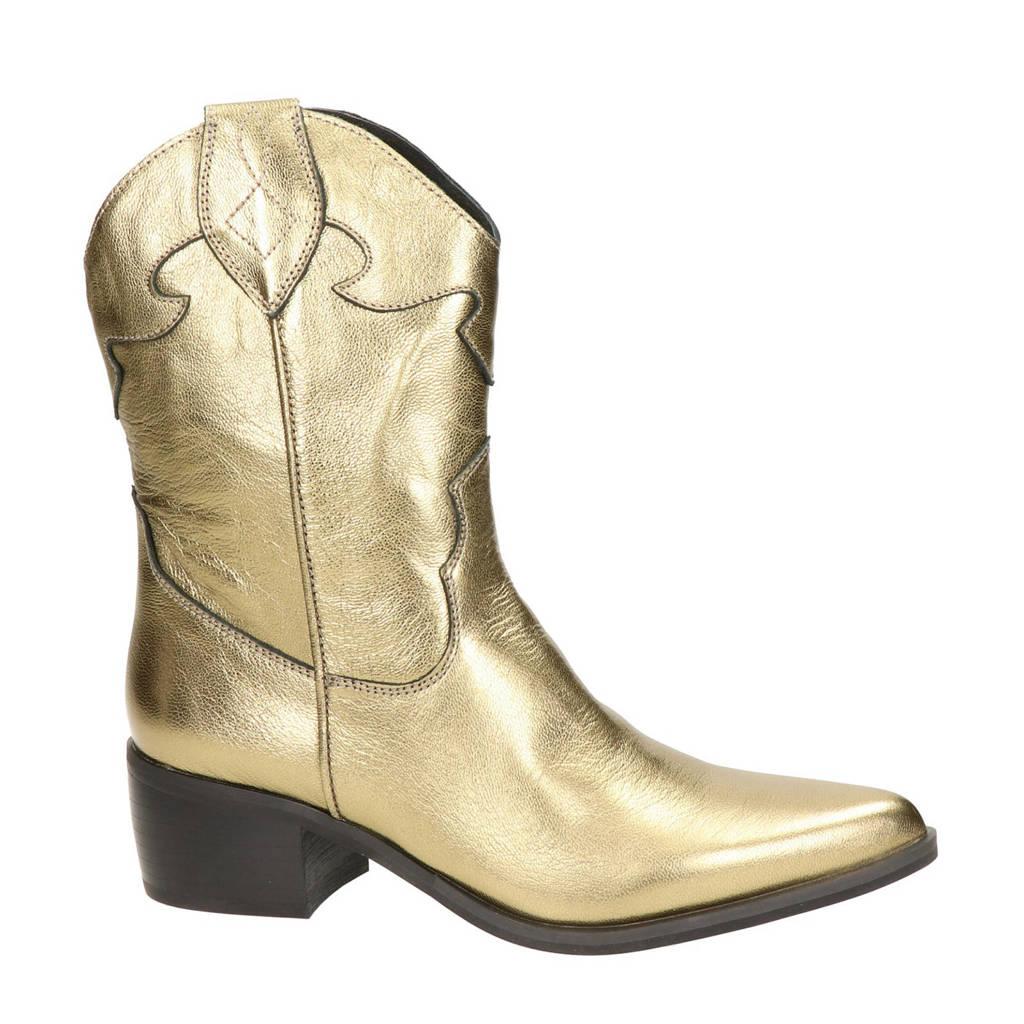 Nelson   leren cowboylaarzen goud, Goud