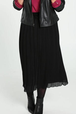semi-transparante rok zwart