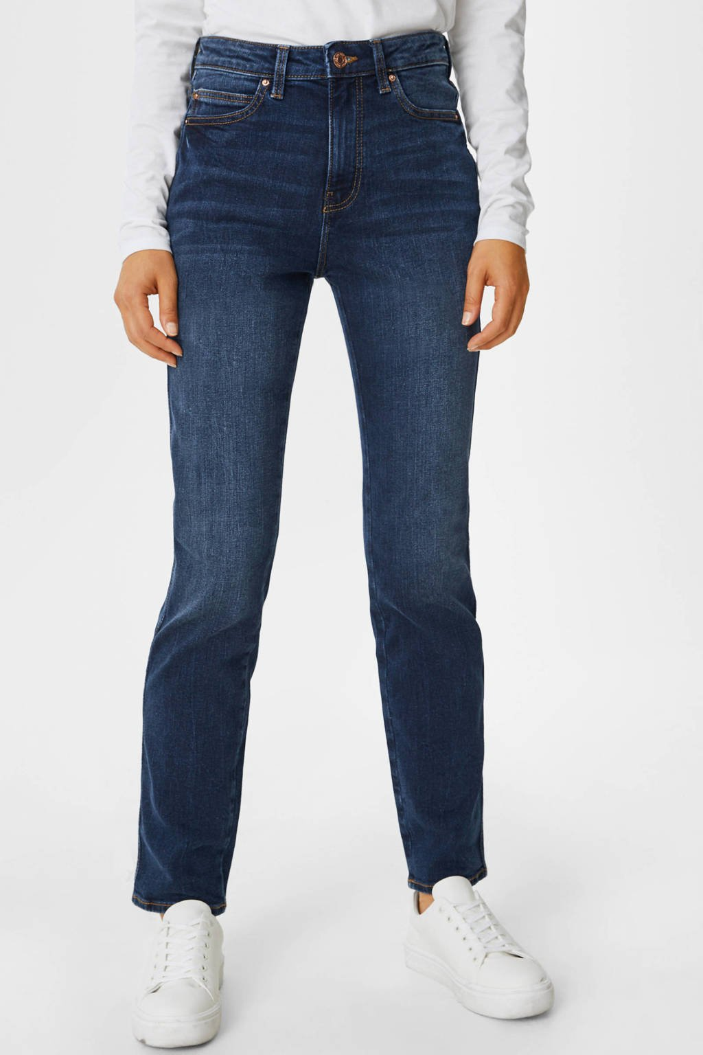 C&A high waist bootcut jeans donkerblauw, Donkerblauw