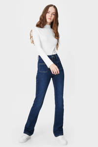 C&A Clockhouse high waist flared jeans donkerblauw, Donkerblauw