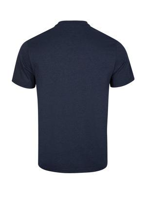 regular fit T-shirt met tekst donkerblauw