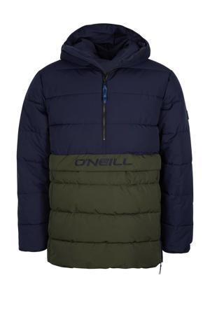 outdoor jas blauw/groen
