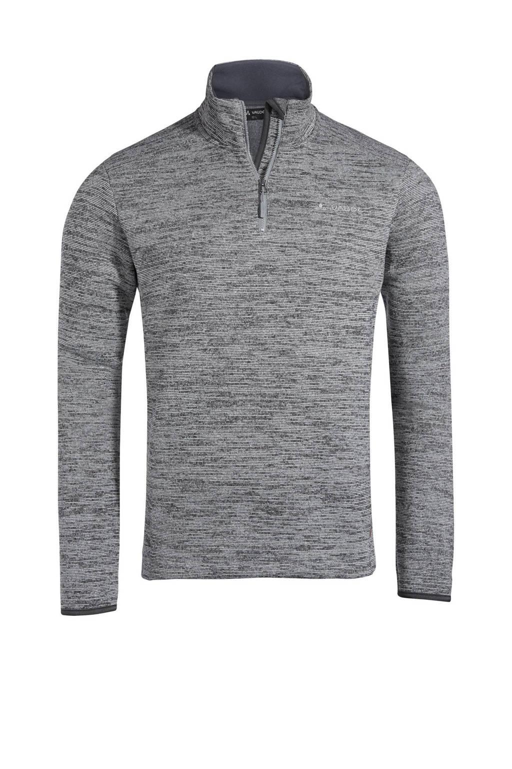 VAUDE outdoor sweater grijs melange, Grijs melange