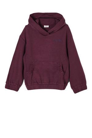 hoodie met logo paars