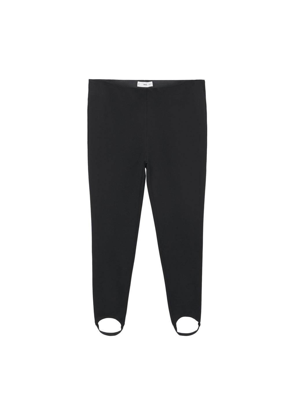 Mango Plus Size legging zwart, Zwart