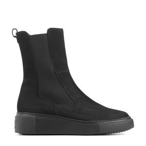 9971  nubuck chelsea boots zwart