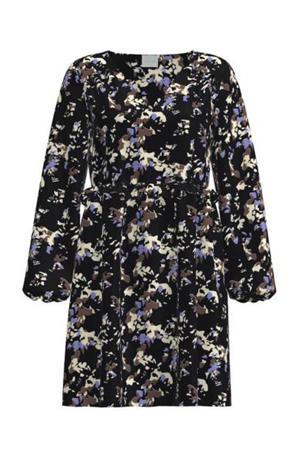 A-lijn jurk VILOLA met all over print donkerblauw