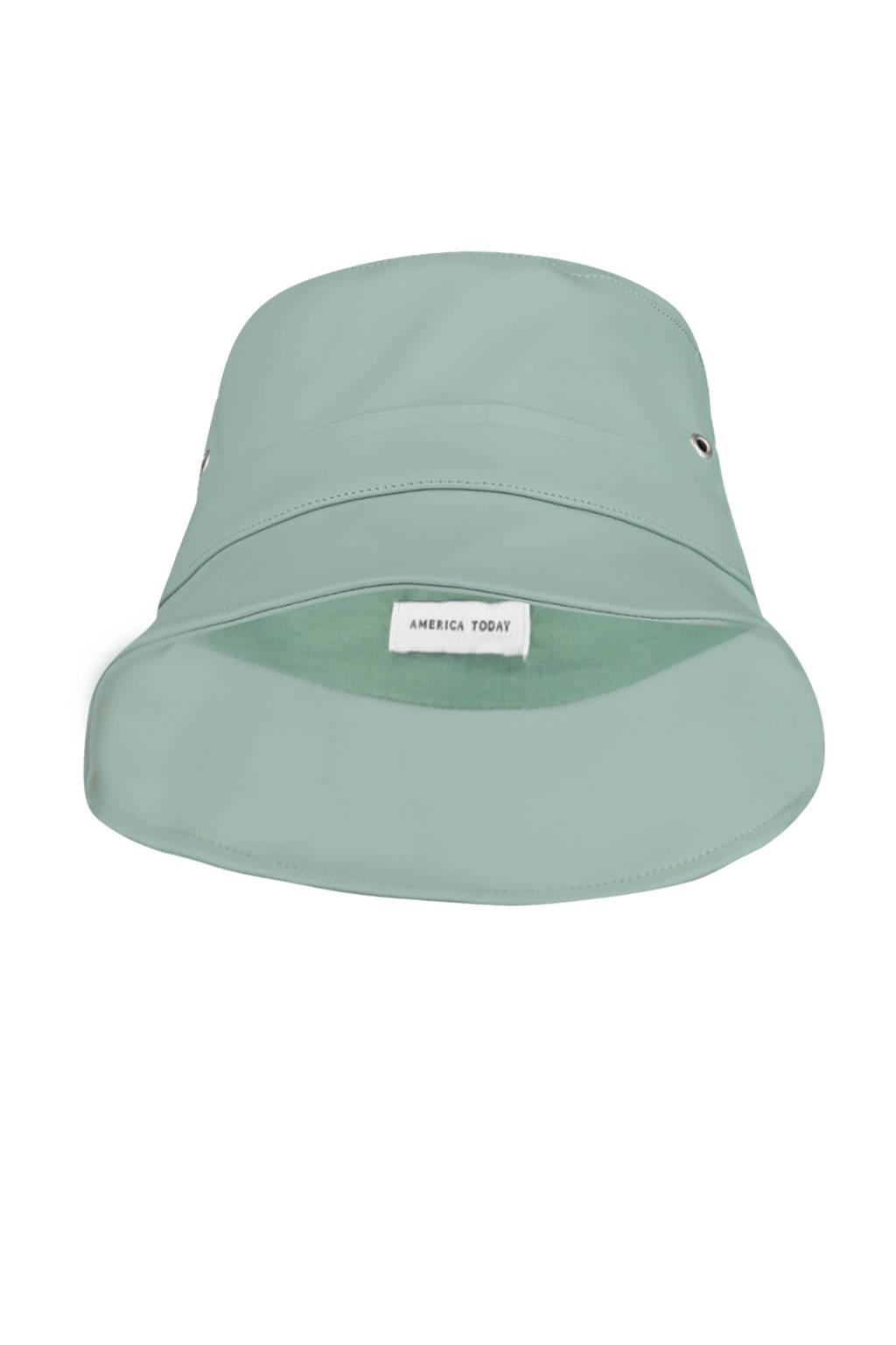 America Today Junior bucket hat groen, Groen/Saliegroen
