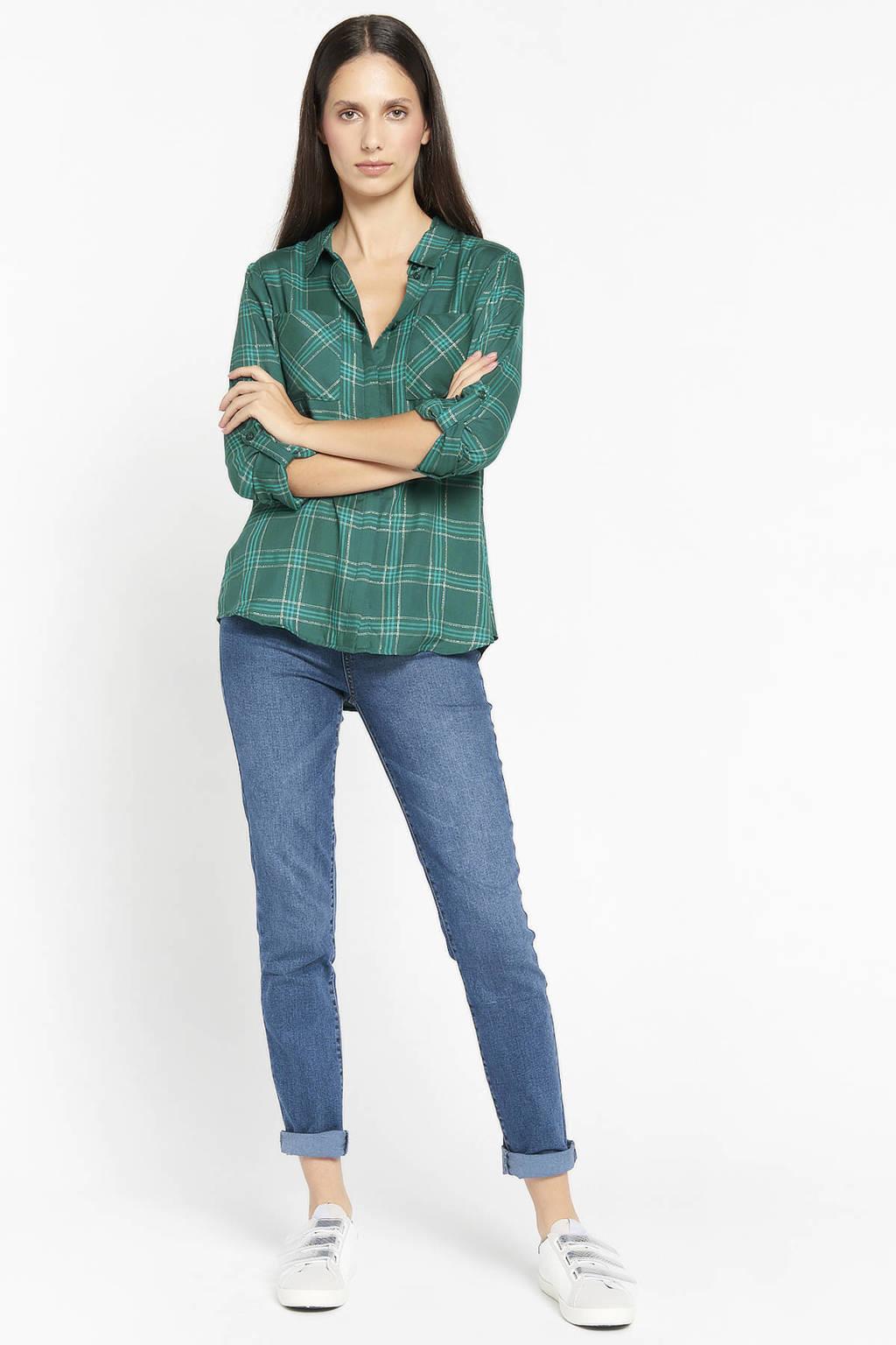 LOLALIZA geruite blouse groen, Groen