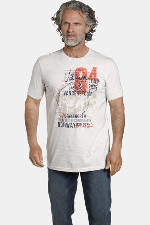 T-shirt YORICK Plus Size met printopdruk beige