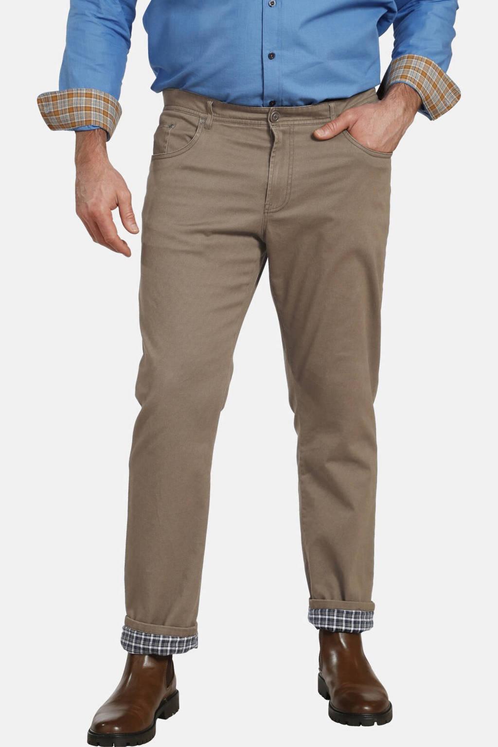 Charles Colby loose fit broek BARON ALUN Plus Size beige, Beige