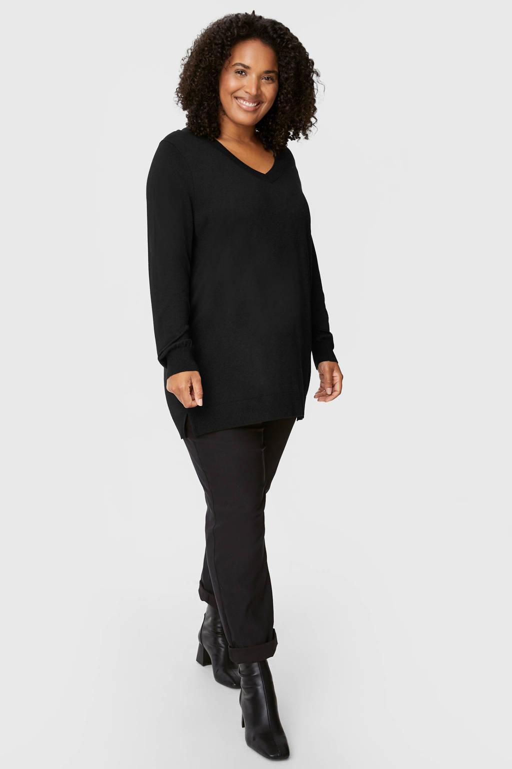 C&A XL Yessica gebreide trui zwart, Zwart