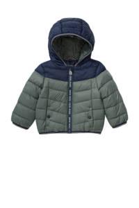 C&A Baby Club gewatteerde winterjas groen/donkerblauw, Groen/donkerblauw