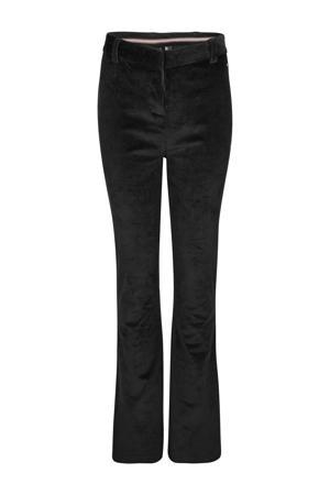 corduroy high waist bootcut broek zwart