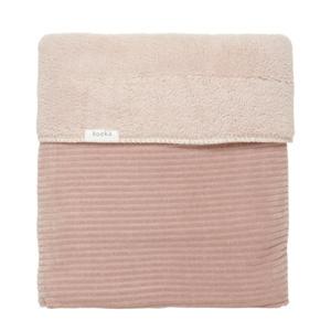 eenpersoonsdeken Vik corduroy 110x170 cm grey pink