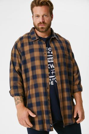 overhemd + T-shirt donkerblauw