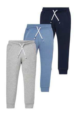 joggingbroek - set van 3 grijs/blauw/donkerblauw