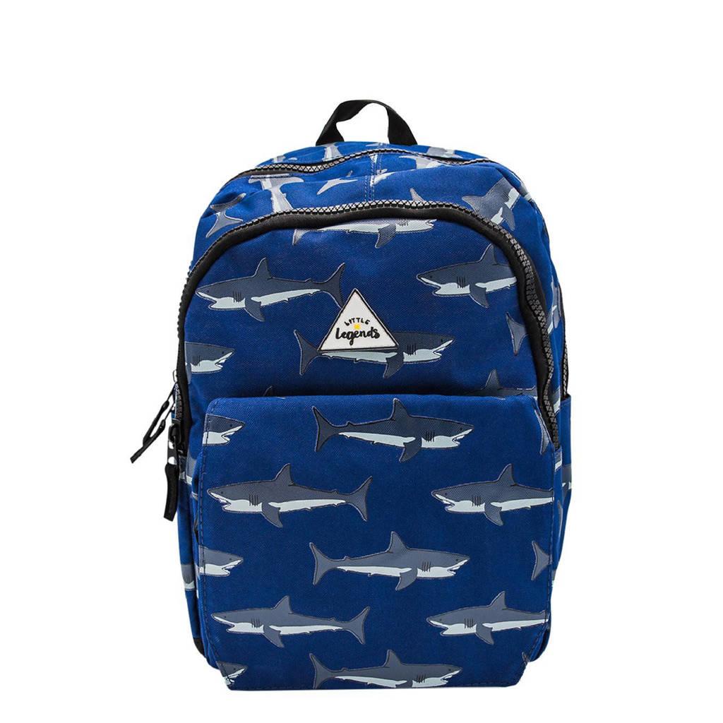 Little Legends  rugzak Shark Mouth L blauw, Blauw