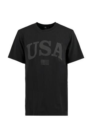 T-shirt Erra van biologisch katoen washed black