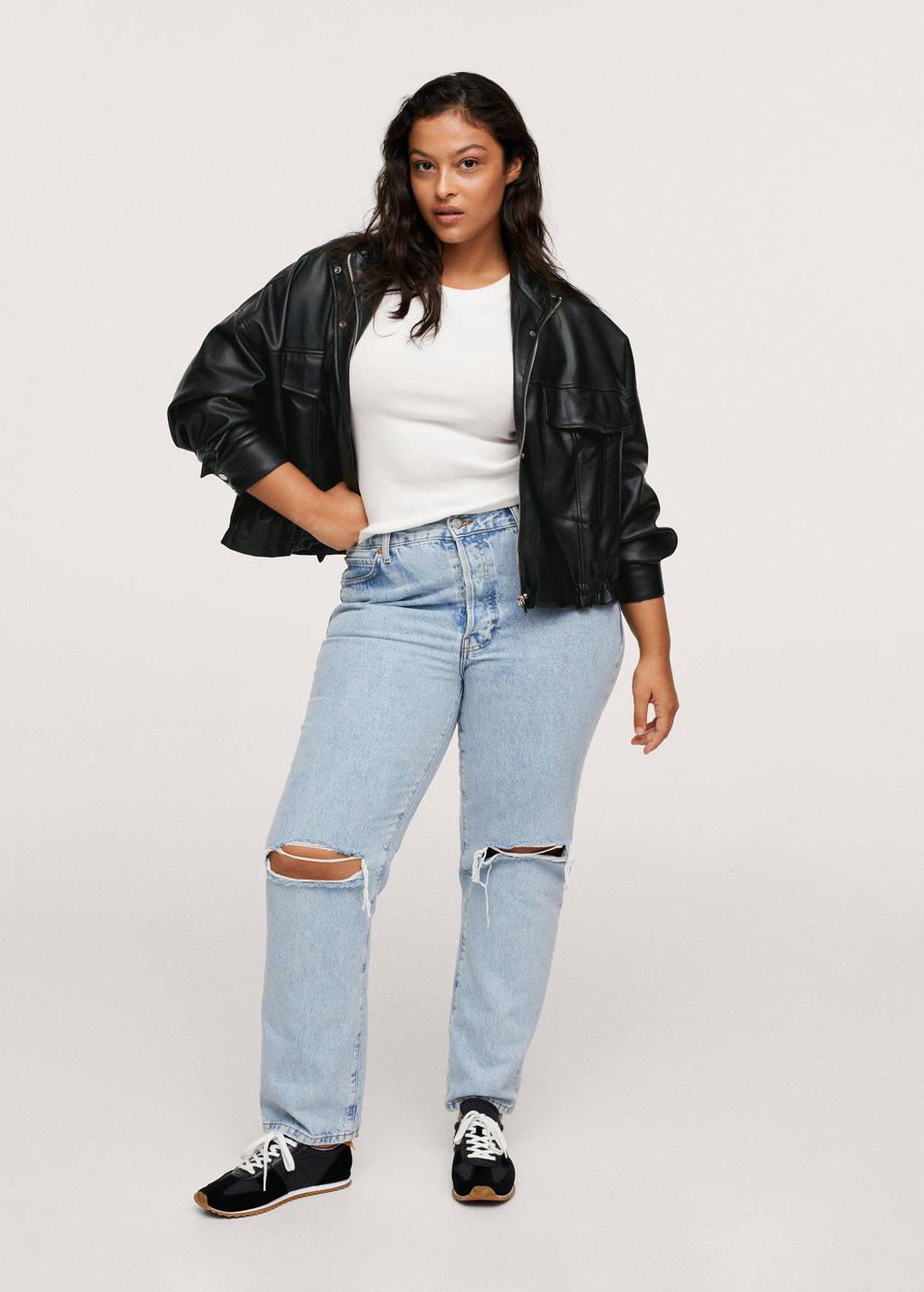 Mango Plus Size jack zwart, Zwart