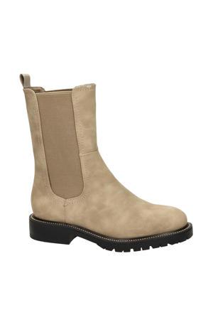 hoge chelsea boots beige