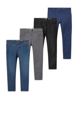 slim fit jeans - set van 4 - stonewashed/multi