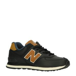 574  sneakers zwart/cognac
