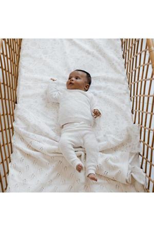 newborn broek Diamonds van biologisch katoen off white
