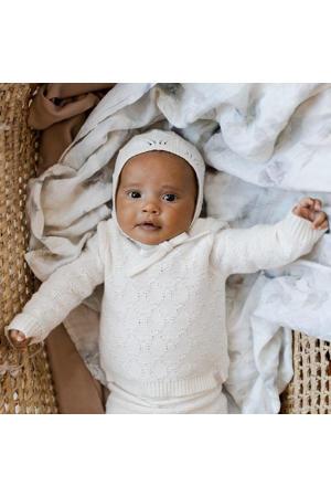 newborn trui Diamonds van biologisch katoen off white