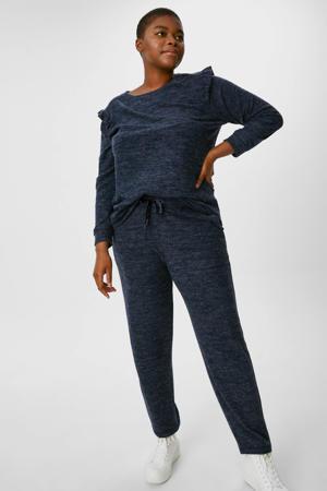 gemêleerde skinny broek donkerblauw