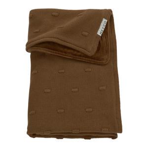 baby ledikantdeken velvet Knots 100x150 cm chocolate