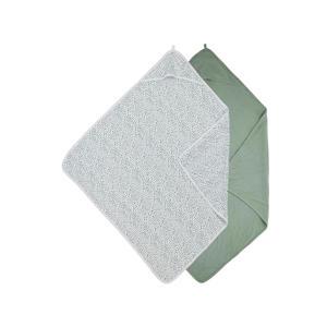 badcape - set van 2 Basic jersey Cheetah forestgreen