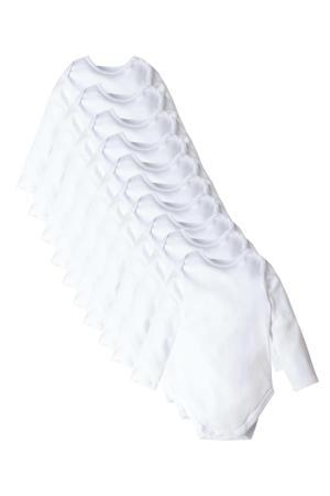 romper - set van 10 wit