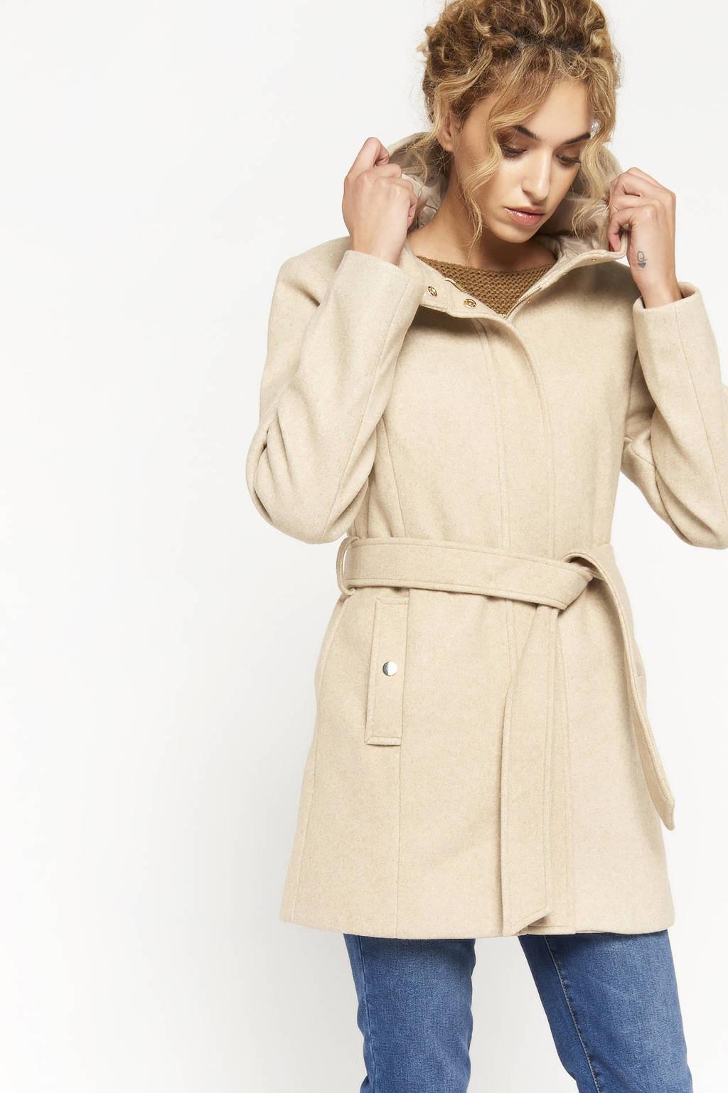 LOLALIZA  coat met wol beige, Beige