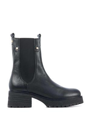 74422  leren chelsea boots zwart