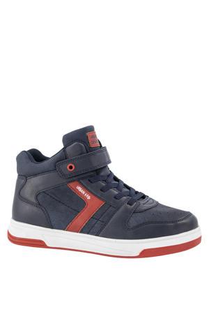 hoge sneakers blauw/rood