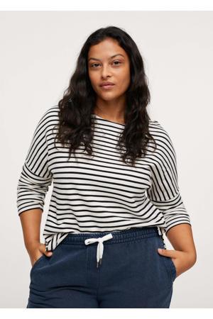 gestreept T-shirt zwart/wit