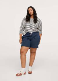 Mango Plus Size gestreept T-shirt zwart/wit, Zwart/wit