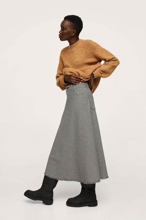 rok met ruit zwart/beige/bruin