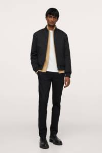 Mango Man slim fit broek zwart, Zwart