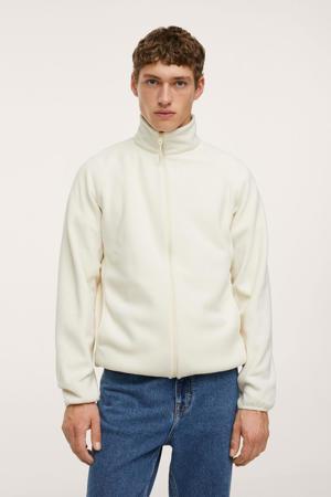 fleece vest naturel wit
