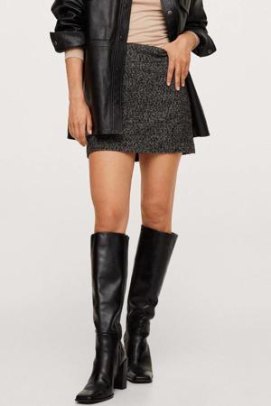 mini rok met textuur antraciet